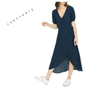 NWT Anthro Sanctuary Faux Wrap Polka Dot Dress. 2